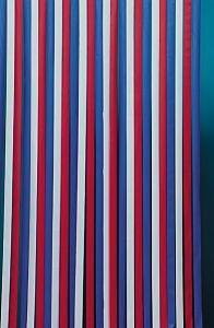 BREMA Sylt 150101 Rideau à rayures rouge/bleu