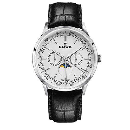 EDOX Men's Analogue Quartz Watch with Leather Strap 40101-3C-AIN