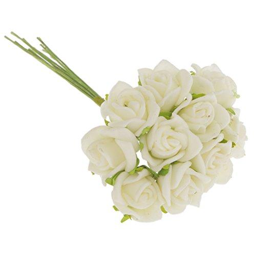Generic 100Pcs Mini Künstliche Rosen Blumen Bouquet Startseite Hochzeit Rosenstrauß Dekor