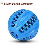 EETOYS Hundespielzeug Ball Natur-Gummi | Hunde Spielzeug mit Dental Zahnpflege Spielzeug für Hunde Langlebig und für IQ Treat Ball(8 cm)