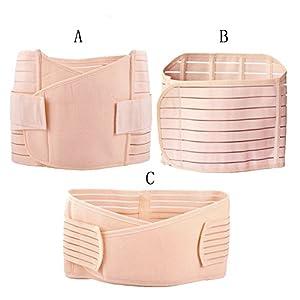 Movingtime 3 in 1 Atmungsaktive elastische Postpartum Recoery Bauch / Taille / Beckenstütze Gürtel Gürtel für Frauen und Mutterschaft