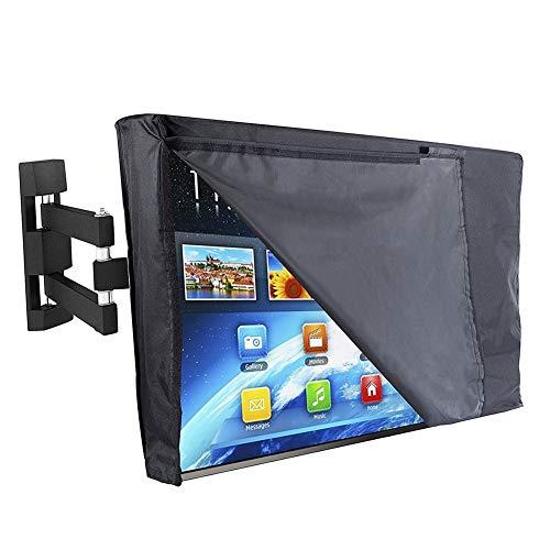 HYDT Möbelsets TV-Abdeckungen für den Außenbereich - Für 22- bis 65-Zoll-Fernseher - Schwarze UV-Regenschutzabdeckung mit Controller-Aufbewahrungstasche (Size : 50-52 inch)