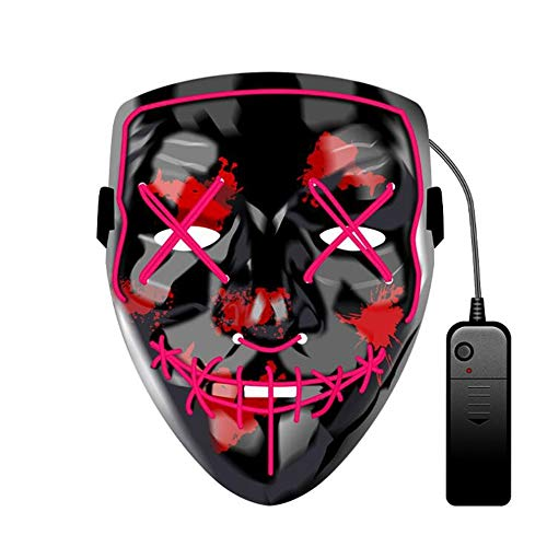 Gruselig Dance Kostüm Modern - SAILORMJY Maske Halloween, Cosplay Maske LED Grimasse Horror leuchtende Maske Party Maske Halloween Rolle verkleiden Sich Coole Maske Karneval Weihnachtsdekoration Ghost Dance Holiday Party