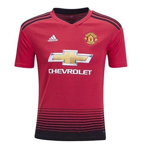 adidas Fußballtrikot Manchester United FC Heimtrikot, Jungen, Soccer Youth Manchester United FC Home Jersey, Real Red, Medium -