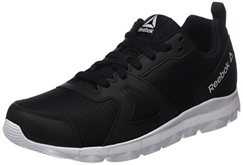 Reebok bs9127, scarpe da fitness uomo, nero (black/white), 43 eu