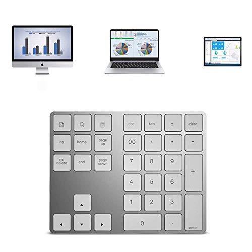 Universelle schlanke tragbare drahtlose Bluetooth-Tastatur, Aluminium-Ziffernblock-Keil-Design mit Akku, für Tablet/iPad/Tablet/Smartphone, etc,White - White Mobile Maus