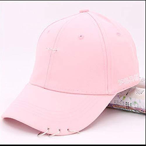 zhuzhuwen Koreanische Art und Weise beiläufige Gebogene Hut Hutstiftband-Baseballmütze Männer und Frauen Europa und Amerika 6 justierbar