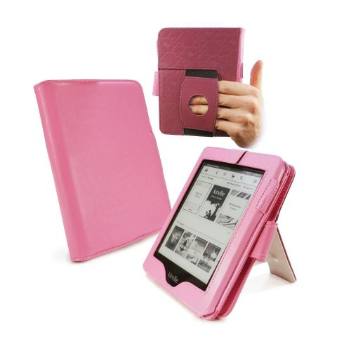 tuff-luv-embrace-plus-custodia-supporto-in-similpelle-per-kindle-touch-paperwhite-sleep-book-rosa