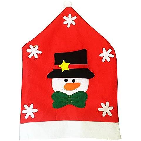 Eizur Natale Pupazzo di Neve Copri Sedie Posteriori Sedia Coperture