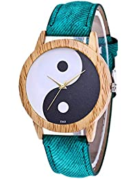 IG Invictus Damen Mode Casual Lederstrap Analog Quarz Runde Uhr T363 N Quarzuhr