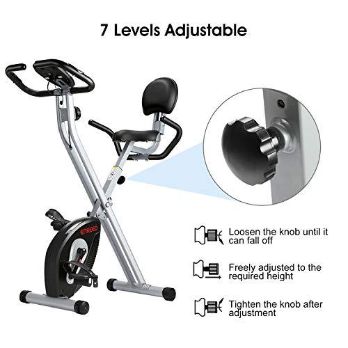 ENKEEO Heimtrainer Klappbar Fitnessbike Bild 4*