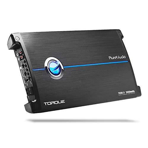 Planet Audio TR5000.1D Drehmoment 5000 Watt, 1 Ohm stabil Class D Mono Auto-Verstärker mit Fernsteuerung Subwoofer (Planet Audio-verstärker)