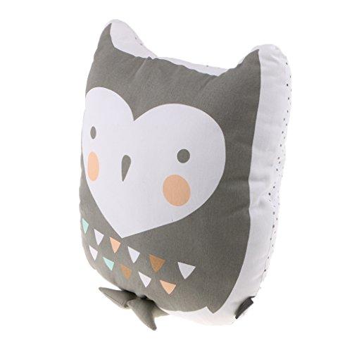 Gazechimp Eule Form Plüschkissen Kissen Spielzeug für Kinder Mädchen Erwachsene / Haus Sofa Kinderzimmer Dekoration - S