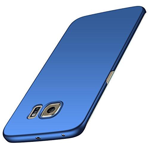 anccer Samsung Galaxy S6 Edge Hülle, [Serie Matte] Elastische Schockabsorption & Ultra Thin Design für Samsung Galaxy S6 Edge(Glattes Blau)