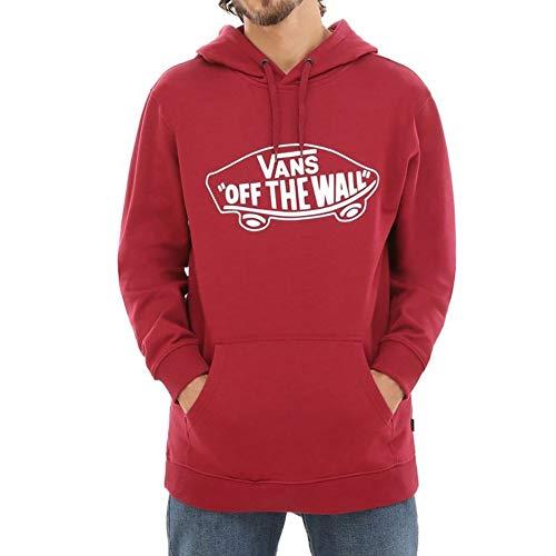 Vans Otw Pullover Fleece Cappuccio Uomo, Rosso (Rhumba Red White Tda) Medium