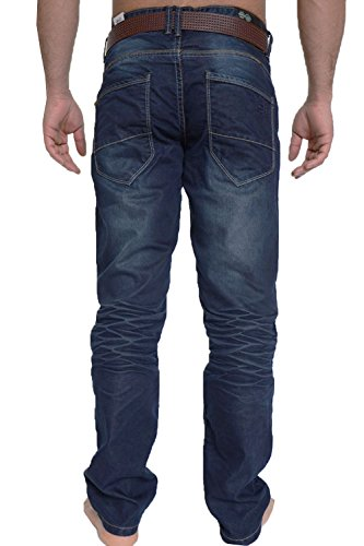 Crosshatch Herren Loose Fit Jeans Dunkle Waschung