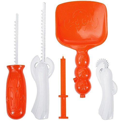 Lorcoo Kit per intagliare la zucca con 5 utensili