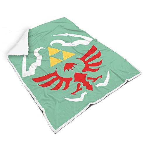NC83 Decke Zelda-Logo Design Drucken Mikrofaser Übergröße Wirft Robe - Rot Büro Geeignet für Erwachsene Verwenden White 150x200cm