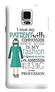 The Fappy Store I-TREAT-MY-PATIENT-WITH Back Cover For Samsung Galaxy Note 4