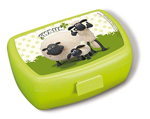 Teddys Rothenburg Nici, Brotdose, Shaun das Schaf, mit Shirley und Timmy, 17 cm, grün, PVC, Schafbrotdose