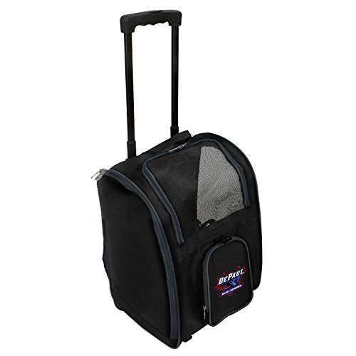Mojo NCAA Premium Rädern Pet Carrier, Unisex - Erwachsene, Premium Wheeled Pet Carrier, schwarz, 16.5