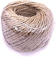 Home 30M Natural Burlap Hessian Jute Twine Cord Hemp Rope String 2mm Rustic Wrap Gift Packing String Wedding D