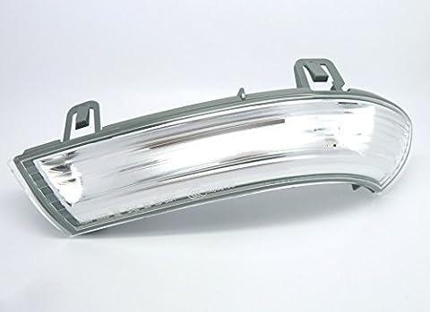 Genuine VW Volkswagen Wing Mirror Indicator Turn Signal Repeater Lens with LED Bulbs Left Side 1K0949101 MK5 Golf Passat Eos Jetta Sharan Skoda Superb SEAT