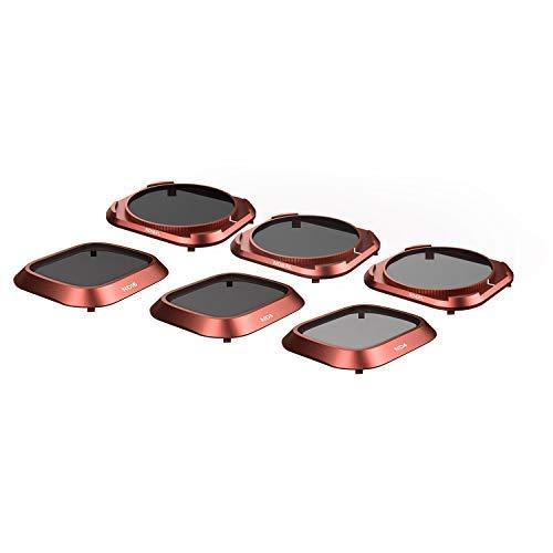 Skyreat Upgraded Mavic 2 Pro Objektiv ND Filter Set Kompatibel für DJI Mavic 2 Pro Filters 6-Pack (ND4, ND8, ND16, ND4PL, ND8PL, ND16PL), Drehbar und funktioniert mit Gimbal Cover