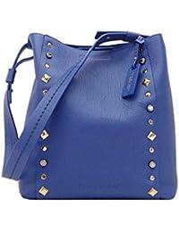 PLINIO VISONA' - Janis, Shoppers y bolsos de hombro Mujer, Blu (Bluette), 15x33x31 cm (W x H L)