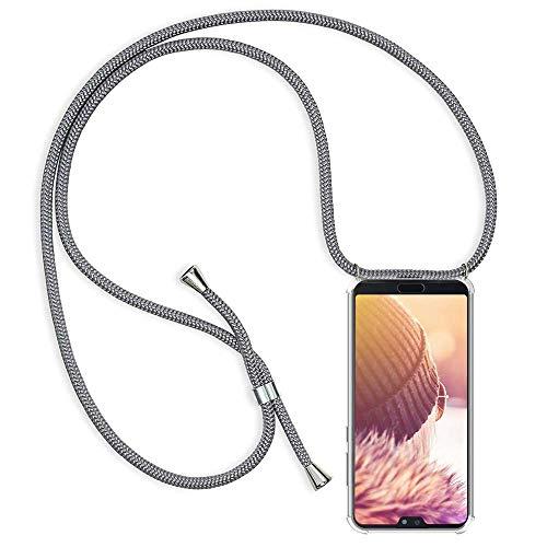 Handykette Handyhülle mit Band für Huawei P20 Pro Cover - Handy-Kette Handy Hülle mit Kordel Umhängen -Handy Halsband Lanyard Case/Handy Band Halsband Necklace -