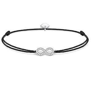 THOMAS SABO Damen Armband Little Secret Infinity Infinity Little Secret 925er Sterlingsilber, Nylon LS003-401-11