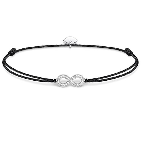 THOMAS SABO Damen Armband Little Secret Infinity Infinity Little Secret 925er Sterlingsilber, Nylon LS003-401-11