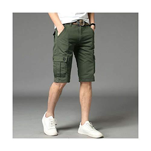 EXLEXD& Military Shorts Men Short Hombre Masculino Men's Sports Streetwear Tooling Breeches Sweatpants Joggers Pantalon Corto Army Color 2 38 Fit Breeches