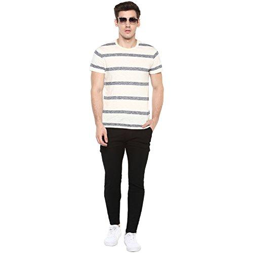 Urbano Fashion Men's Black Slim Fit Stretchable Jogger Jeans (Size : 30)