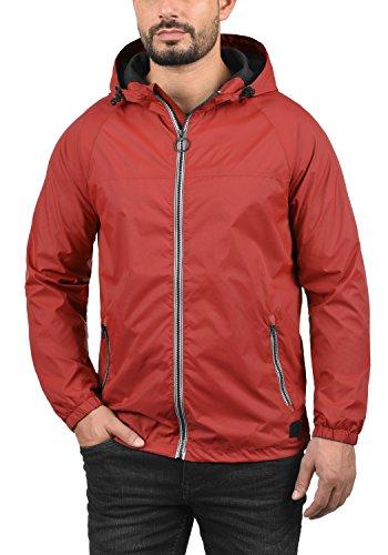 BLEND Nevi Herren Übergangsjacke Windbreaker Wind-Jacke mit Kapuze aus winddichter und hochwertiger Materialqualität Pomp Red (73832)