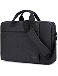 LXOICE Office Laptop Bags Briefcase 15.6 Inch for Women and Men (Dark Grey)