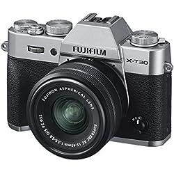 Fujifilm 16619126 Appareil Photo Hybride X-T30 + XC15-45mmPZ Silver