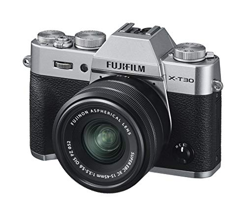 Fujifilm X-T30, Kit cámara con Objetivo Intercambiable XC15-45/3.5-5.6, Color Plata