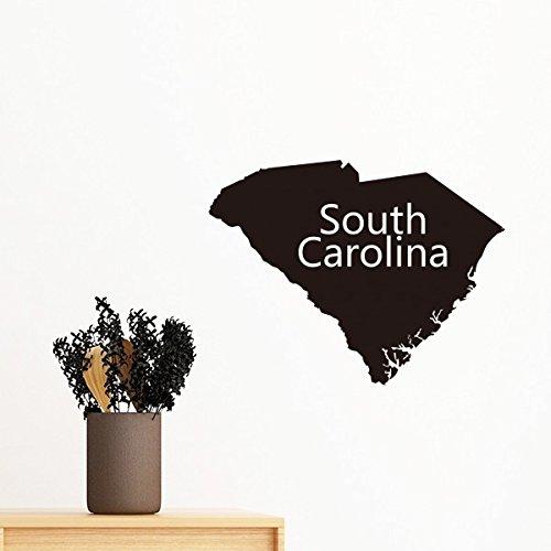 South Silhouette Karte der Vereinigten Staaten von Amerika USA abnehmbar Wand Aufkleber Kunst Aufkleber Wandbild DIY Tapete für Raum Aufkleber 70cm - Der Usa-wand-kunst Karte
