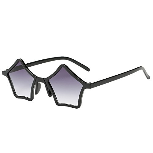 Dorical Vintage Sonnenbrille für Unisex/Damen Herren Brille Pentagramm Form Süß Brillen Retro Hochwertige Brille PC Frame Brille Dekobrillen/Valentinstag Brille für Frauen Männer Promo