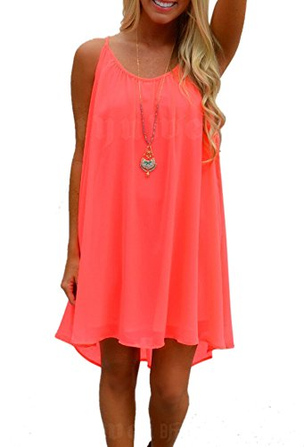 Cami-sunny Beach Wear - Copricostume - linea ad a - Basic - Senza maniche  -  donna Coral