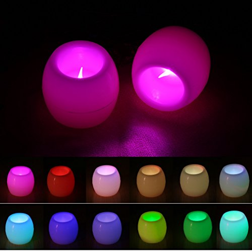 Luces Velas LED, Footprintse Velas LED Con Luz Especial 6 Colores 60 * 50 mm) Para Fiestas Bodas Festivels Cumpleaños