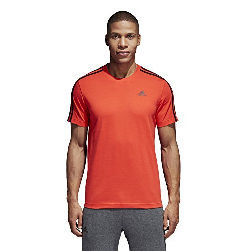 Adidas essentials 3 stripes, t-shirt uomo, hi-res red, 2xl