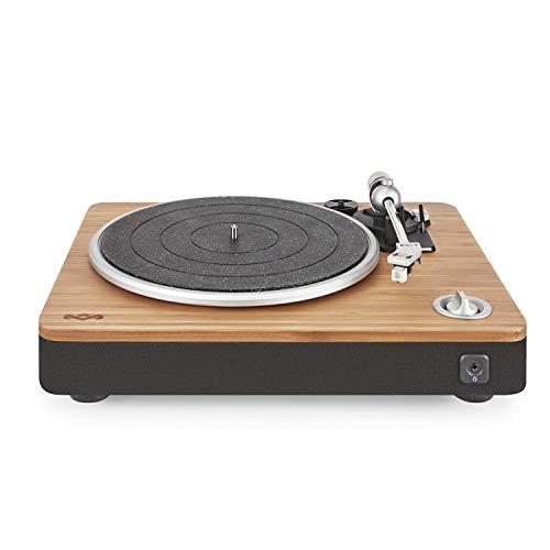 House of Marley Stir It Up Plattenspieler, Vinyl-Plattenspieler, Record Player, Turntable, Stereo-Vorverstärker, USB-Anschluss, Schallplatte zu PC, 33 + 45 RPM, Anti-Skating, RCA Audio out 3.5mm