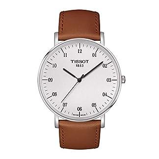 Tissot Reloj Analógico para Unisex Adultos de Cuarzo con Correa en Cuero T1096101603700