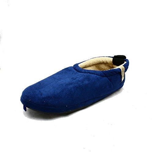 Hommes Polaires souple chaussons bascule de fixation bleu foncé