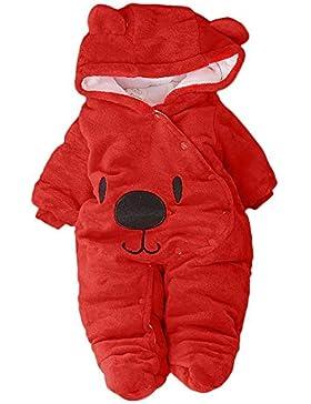 Baby Winter Fleece Overall Jumpsuit Neugeborenes Mädchen Junge Niedlich Bär Strampler Schneeanzug Outfits Spielanzug...