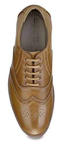 Adreno Les brogues hommes formel usure chaussures bureau faux de taille de cuir disponible Marron