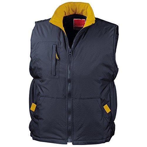 Result - Manteau sans manche - Homme Bleu - Navy/ Yellow