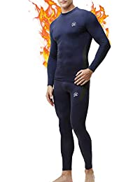 MEETWEE Ropa Interior térmica Hombre, Conjuntos térmicos, Camiseta Térmica Hombres Manga Larga Pantalones Largos para Esquí, Montaña, Ciclismo, Fitness